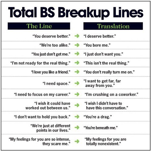 funny break up quotes. funny break up lines. Break Up Lines – Translations; Break Up Lines – Translations. TUD. Mar 25, 12:22 PM. Hope it resolves the short battery